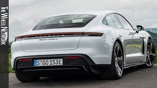 2020 Porsche Taycan Turbo S | Carrara White Metallic | Driving, Interior, Exterior