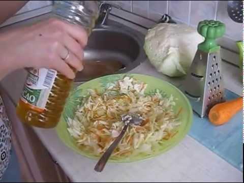 Салат витаминный из свежей капусты,вкусно,быстро и полезно.