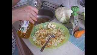 видео Витаминный салат из капусты