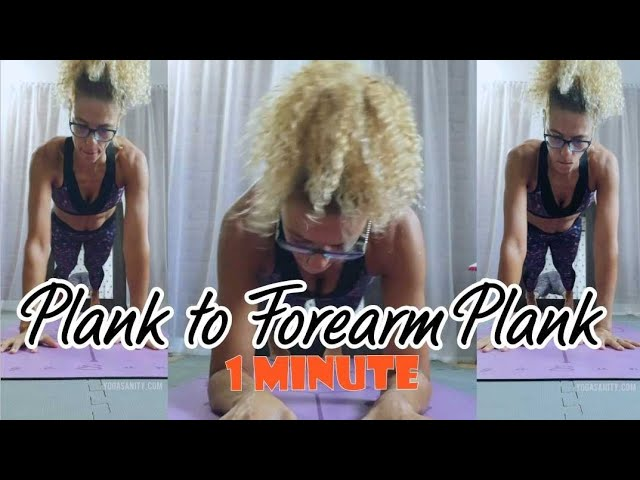 Plank to forearm plank - how many in 1 minute?