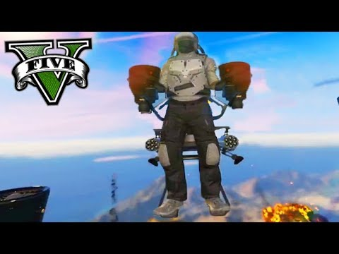 GTA V Online: A JETPACK FINALMENTE no GTA - NOVA DLC da HEISTS!!!