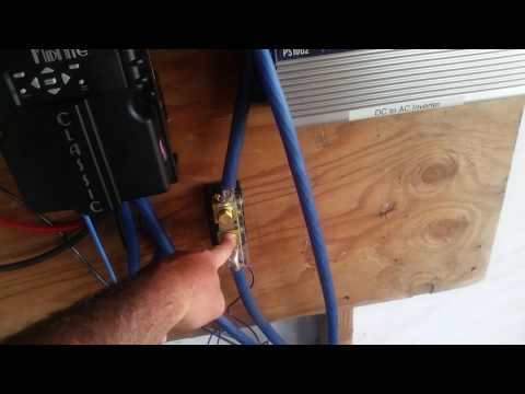 Setting up a simple 12v Solar off grid power system