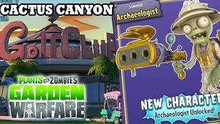 Plants vs. Zombies: Archaeologist Unlocked! Cactus Canyon Map Gardens & Graveyards (NEW DLC Update)