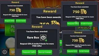 جديد هدايا  في لعبة 8ball pool (سكراتش -سبين-كوينز)  // 8BP New Rewards links in miniclip