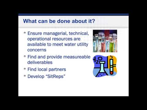 Emergency Preparedness for Water Utilities - What Can Be Done?