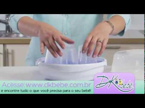 b3864c7cd6 Esterilizador de mamadeira para microondas - YouTube