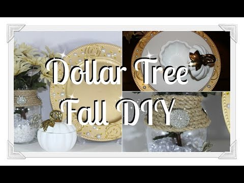 🍂💎Dollar Tree Fall 🍂DIY|| 💎Glam Charger Plates And Vase🍂💎