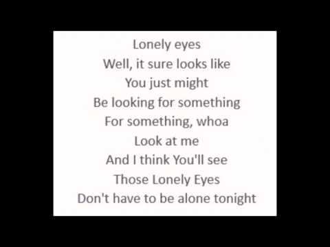 Lonely Eyes - Chris Young (Lyrics)