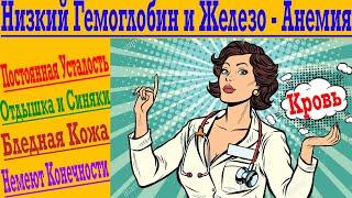постер к видео Гемоглобин и Железо ! Железодефицитная Анемия ! Усталость, синяки, немеют руки и ноги!