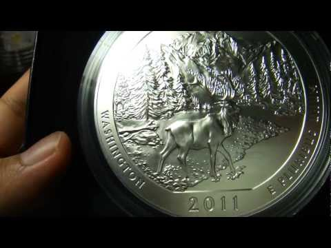 Olympic 2011 America The Beautiful Five Ounce Silver P version