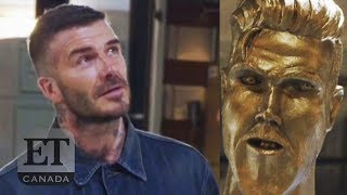 David Beckham Pranked With Fake Statue