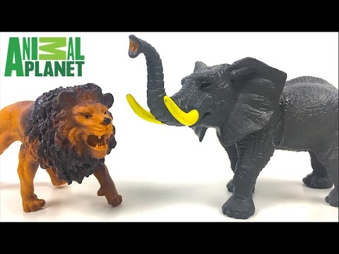 ANIMAL PLANET SAFARI COLLECTION  WITH ELEPHANT, GIRAFFE, LION, HIPPO, RHINOCEROS & ZEBRA - UNBOXING