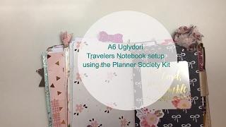 a6 uglydori planner society kit travelers notebook setup