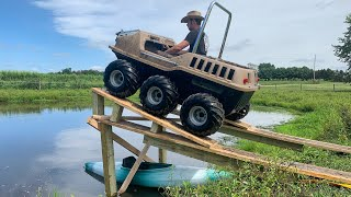 MAX 6x6 Hits A MASS VE JUMP Into Pond