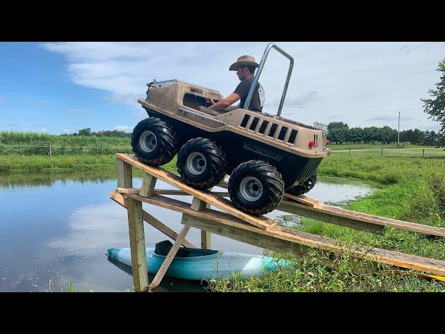 MAX 6x6 hits a MASSIVE JUMP into pond