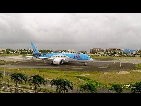 4K | St Maarten Amazing Plane landing and Takeoff footage at Princess Juliana Airport #14