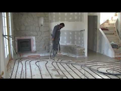 Mise en oeuvre d 39 une chape maigre au mortier et talochage doovi - Chape mousse polyurethane ...