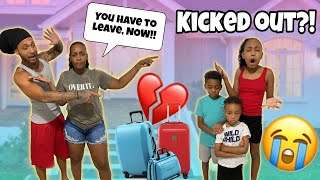 Kicked Out The House Prank On Kids!! (He cried)