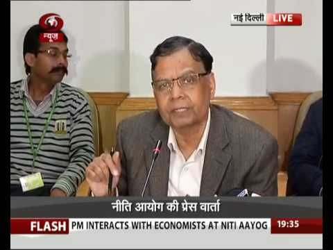 Niti Ayog's Vice -Chairman Arvind Panagariya addresses press conference
