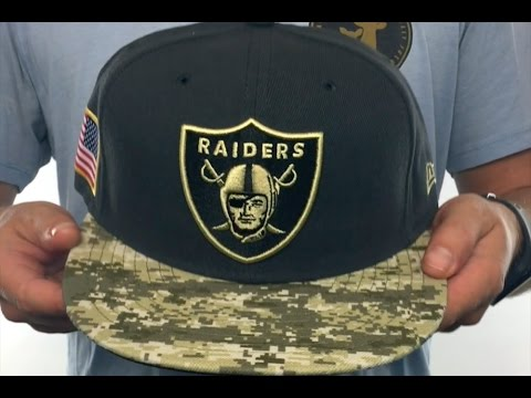 Raiders  2016 SALUTE-TO-SERVICE  Grey-Desert Fitted Hat by New Era ... 4c1d4b24b34