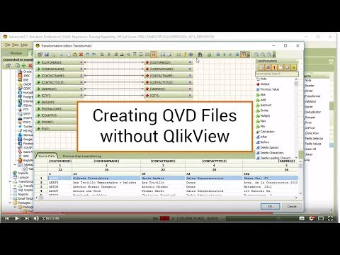 Advanced ETL Processor : Creating QVD Files without QlikView