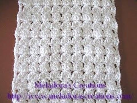 cluster stitch scarf left handed crochet tutorial youtube