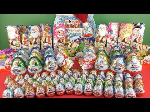 140 Christmas Kinder Surprise Eggs