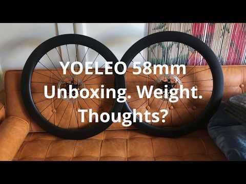 Yoeleo 58mm Carbon Fiber Tubeless Disc Wheels | Unboxing + Weight