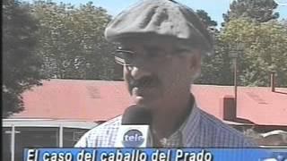 Protesta contra las jineteadas en Rural del Prado 6-abr-2012 canal 12