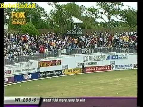 WEST INDIES EMBARRASS AUSTRALIA & SCORE 418 TO WIN IN 2003- WORLD RECORD TEST CHASE