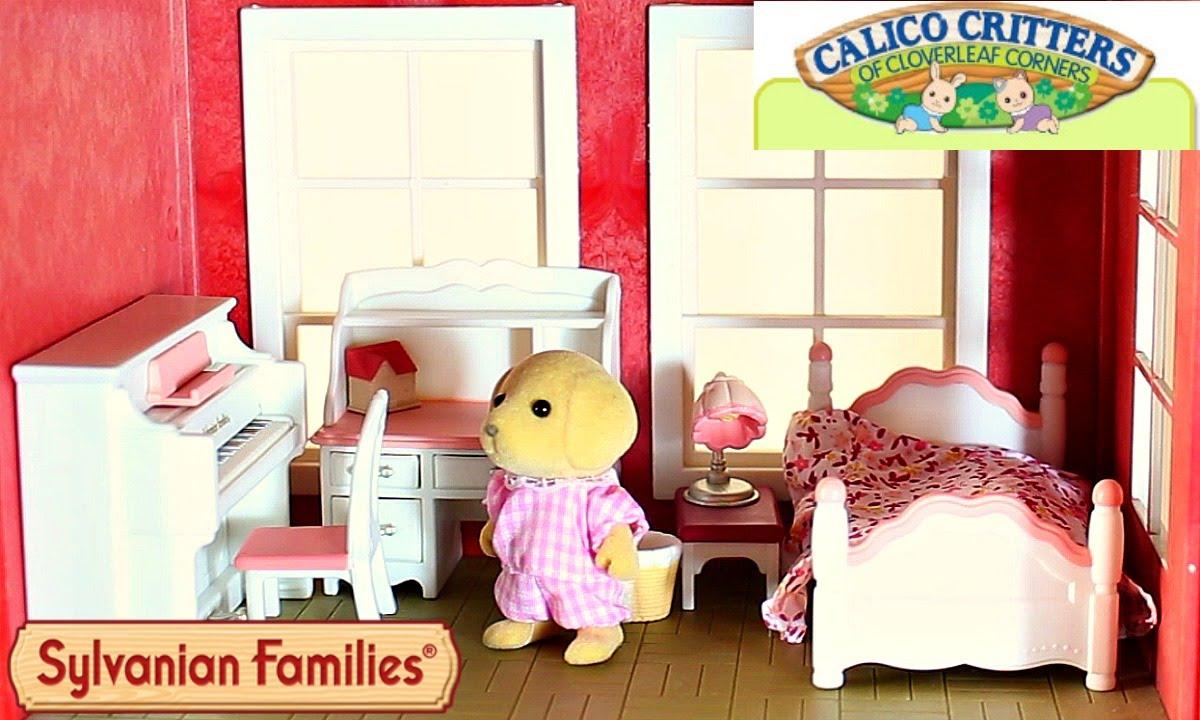 Sylvanian Families/Calico Critters Girlu0027s Bedroom Set In The Regency Grand  Hotel Cloverleaf Manor