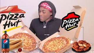PIZZA HUT MUKBANG... *PETTY JAY* (SPILLING TEA ON BRI'S NEW BOYFRIEND)