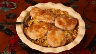 Baked Pork Chops And Corn Stuffing