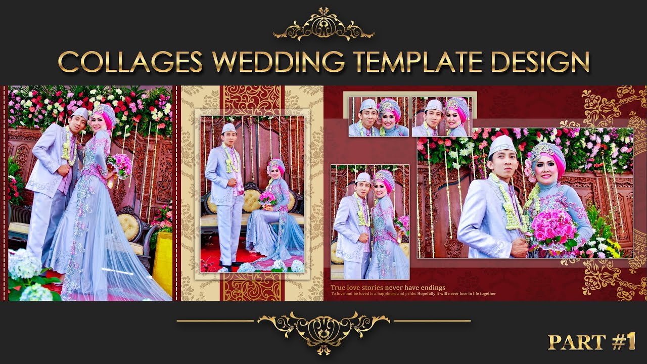 Elegant inspiration collages album wedding photoshop part 2 youtube maxwellsz
