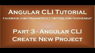 Angular CLI Create new project