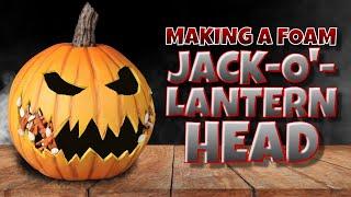 Making a Foam jack o' lantern Head