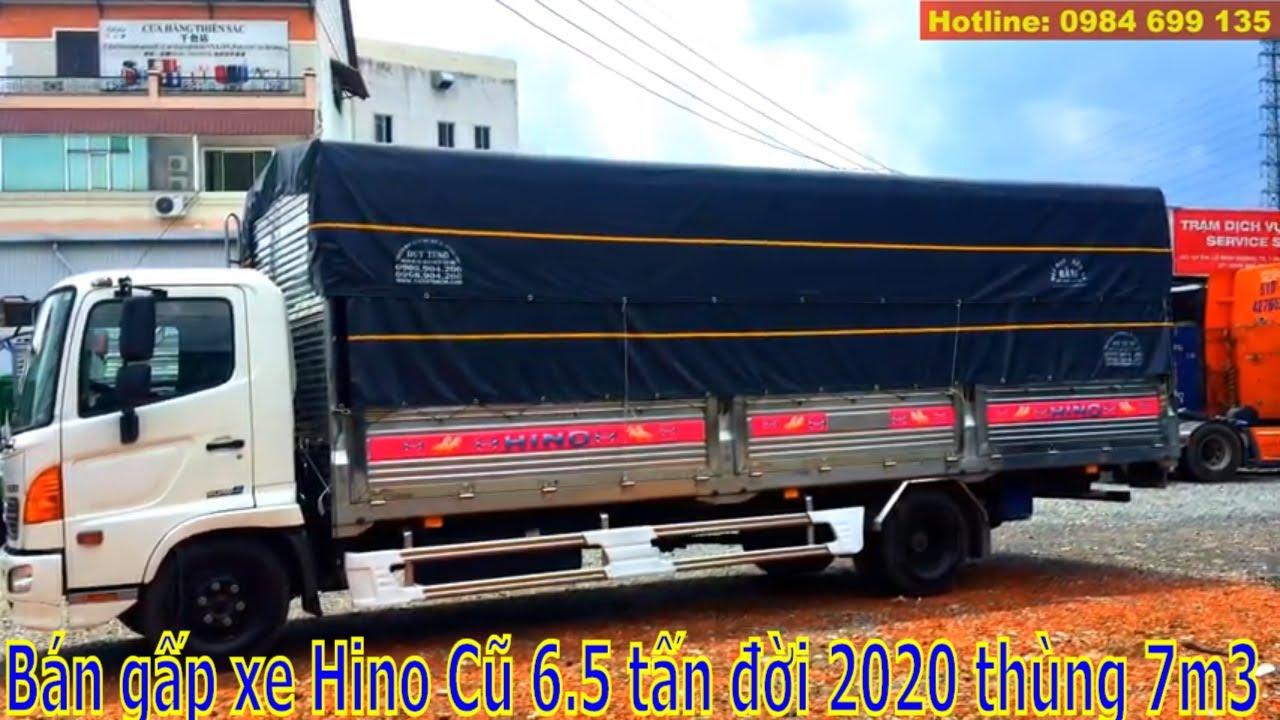 ✅Góc xe cũ – (Đã Bán) Xe tải Hino cũ 6.5 tấn đời 2020 FC9JNTC Euro4 Thùng Mui Bạt Inox siêu dài 7M3