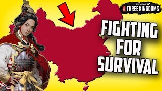 Trying to Survive! Three Kingdoms Total War (First Look Gameplay)