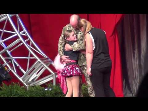 Military son surprises father at Highland Speedway