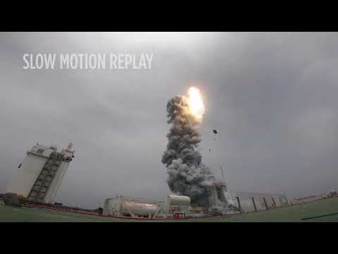 Amazing Views of China's Rocket Launch at Sea - Incl. Slo-Mo
