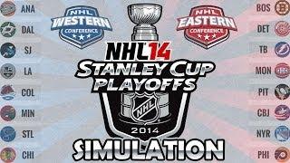 NHL 14 Stanley Cup Playoffs Simulation | Stanley Cup Playoffs 2014 (Round 1)