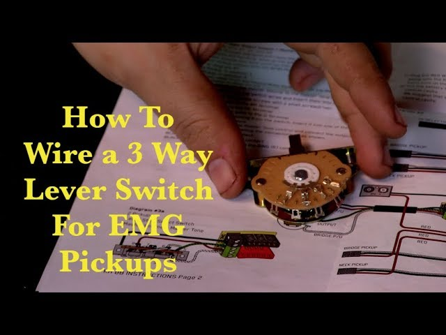 3 Way Lever Switch For Emg Pickups, Stratocaster Wiring Diagram 3 Way Switch