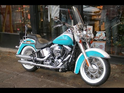 2016 HARLEY-DAVIDSON SOFTAIL DELUXE FROSTED TEAL & CRUSHED ICE ...