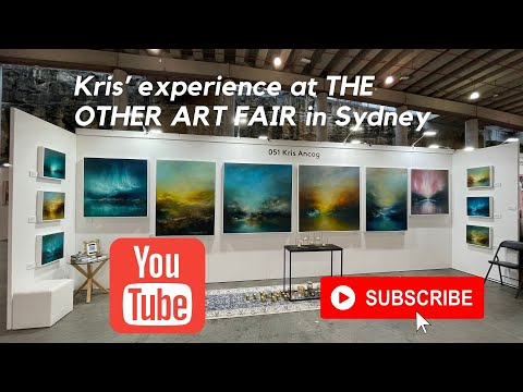 Kris Ancog at The Other Art Fair in Sydney. March 2021.