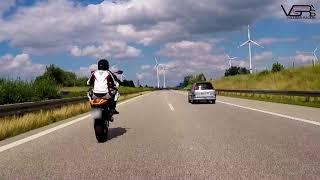 Autobahn A20 Eskalation Wheelies und Polizei