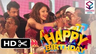 'Mr. Airavata' Audio Launch: Producer Sandesh Nagaraj Cutting His Birthday Cake With Darshan