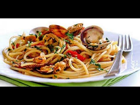 Spaghetti alle vongole espaguetis con almejas receta - Espaguetis con almejas ...