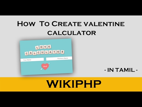 How to create love calculator using php and html