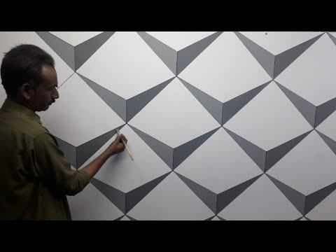 3d Wall Decoration Effect 3d Wall Painting 3d Wall Texture New Design Ideas Interior Design Youtube