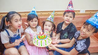 Kids Go To School | Birthday Of Chuns With Friends Have Fun in Ball House Children Toys City